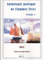 Couverture anthologie flammes vives 2013